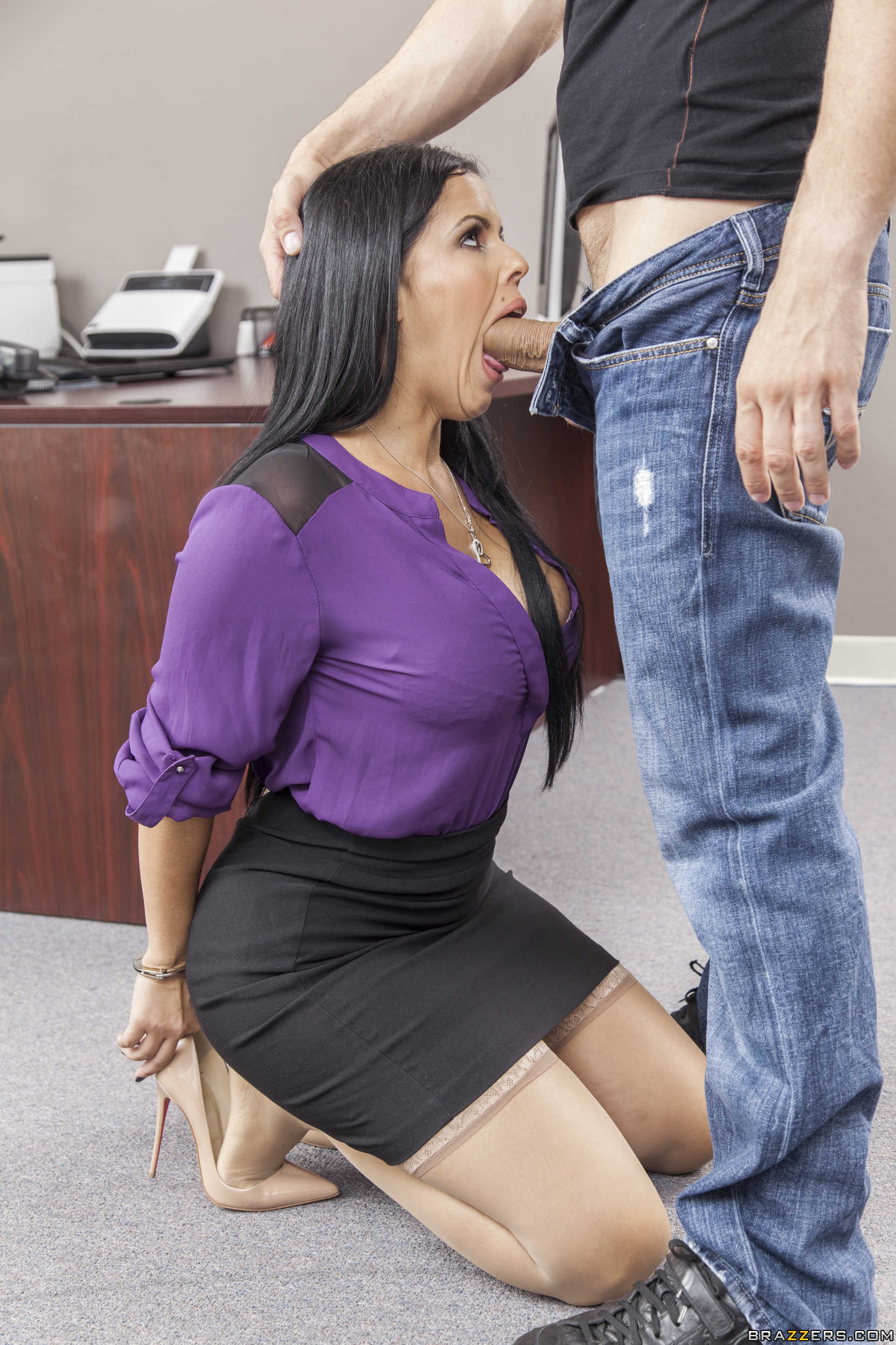 Secretary gives anal on business trip - 1 part 4