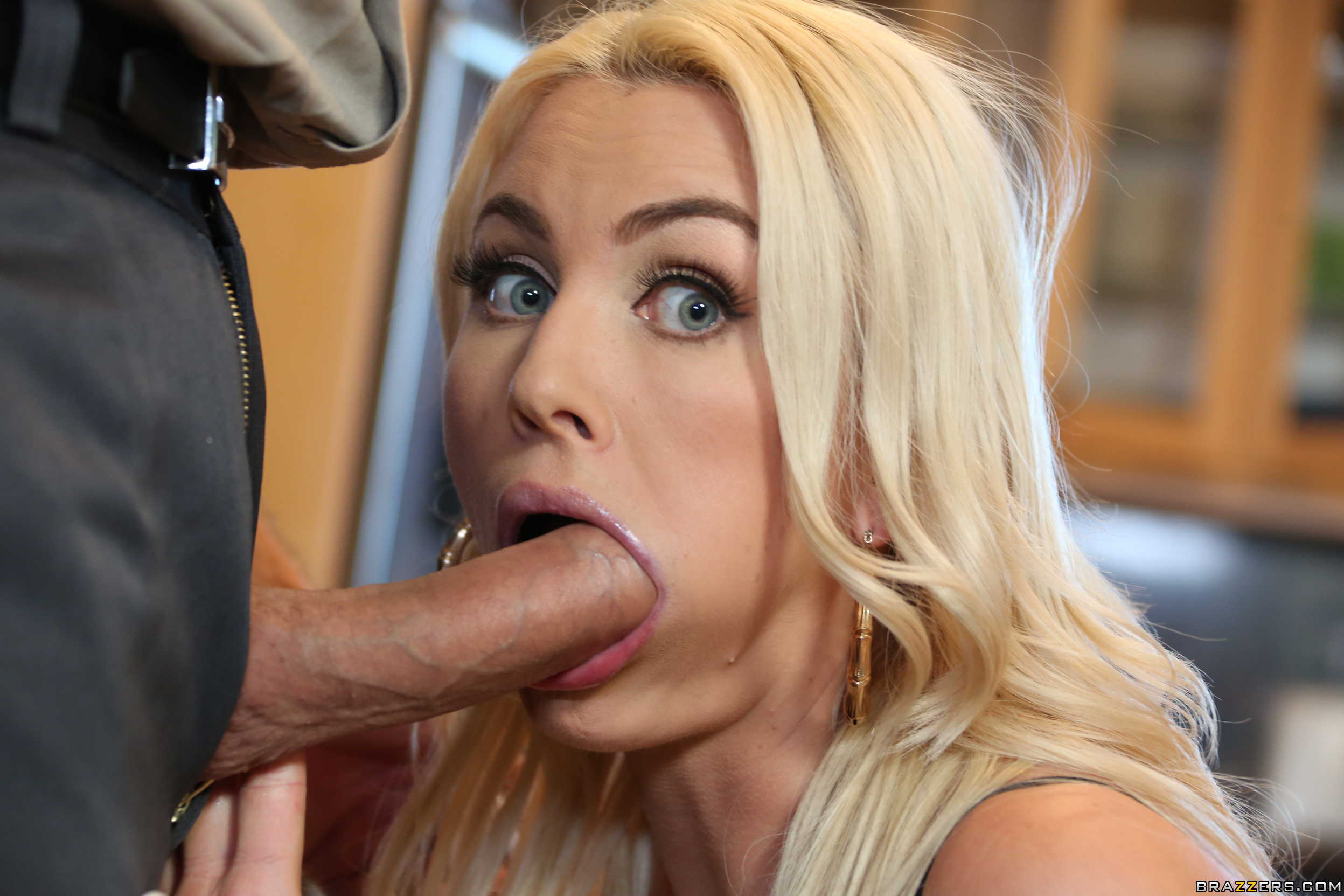 Adriana chechik gives a ultra sloppy deepthroat blowjob 6