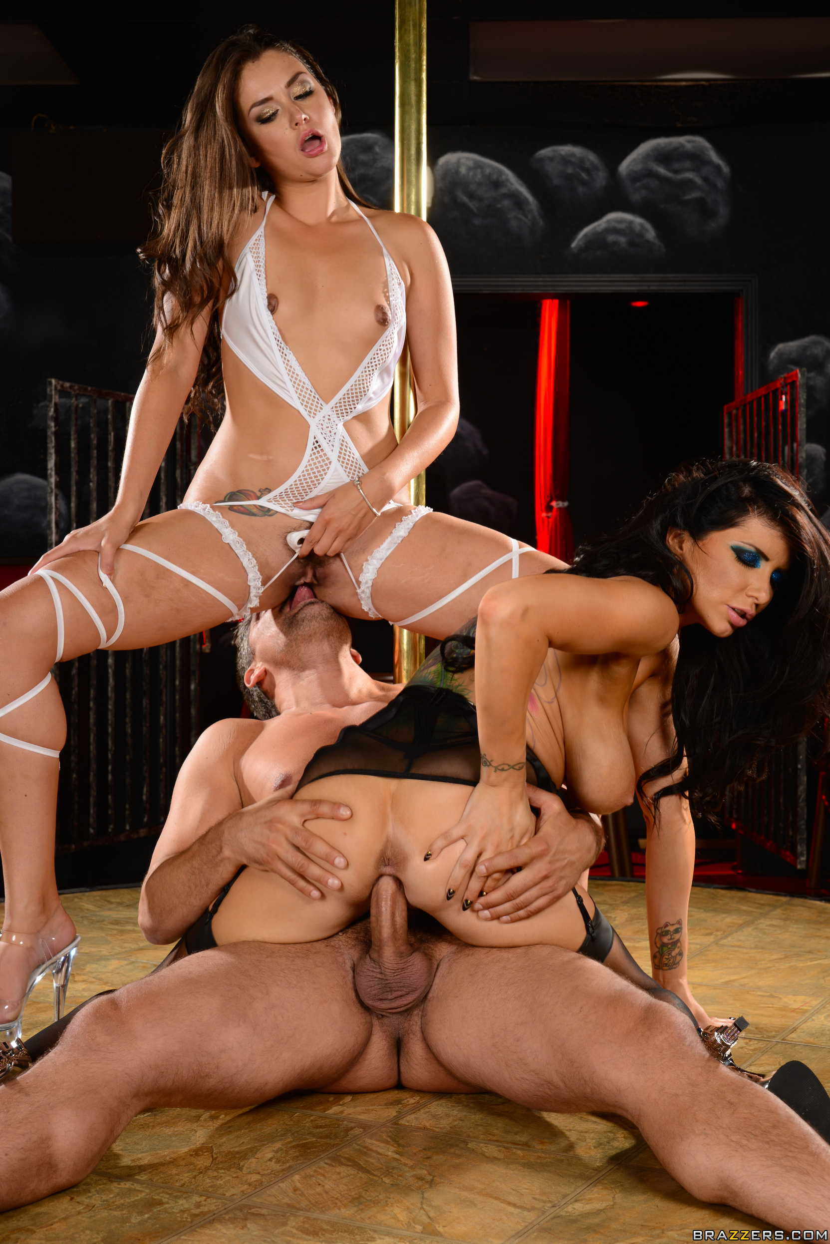 Allie haze romi rain and chanel preston test their oral skills on a cock 8