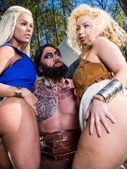 Peta Jensen and Aruba Jasmine in Storm Of Kings XXX Parody